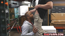 Black dude sells himself and his ass to be used as a toy in a pawn shop