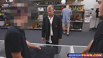Grooms dude gets fucked in pawn shop before the wedding
