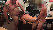 Hot stud having his ass fucked for some quick cash
