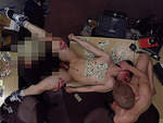 Horny college dude having a cock in his ass