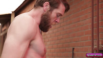 Colby Keller and Dato Foland meet and have really good sex in the alley