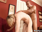 Blondie got his ass stretched by a beefy intruder.