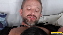 Young and Old gay neighbors are doing nasty cock sucking and ass fucking