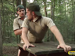 Twink scouts sucks dick and fucks anal in public