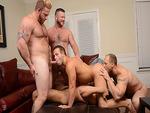 Luke Adams in a hot orgy